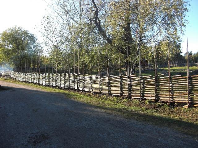 Detta är gärdesgården vi byggde under kursen 15 och 16 november 2011.