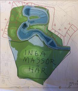 Karta över dammbygget